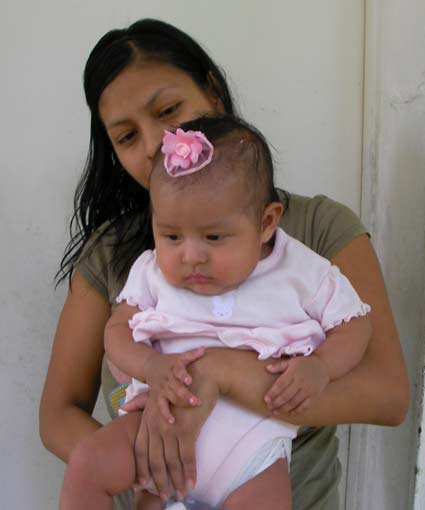Honduran mother and baby