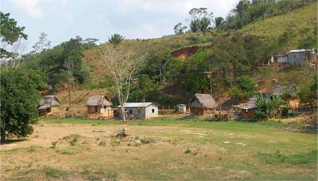 Houses of local people in Honduras