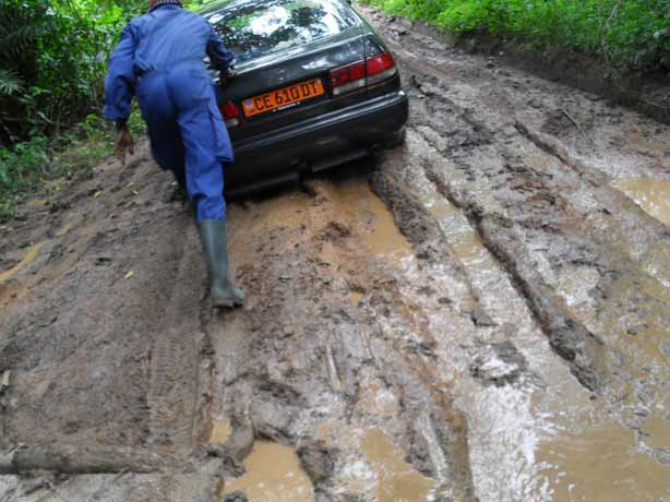 wet Cameroon road